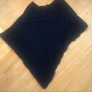 Sweaters - Black Knitted Poncho